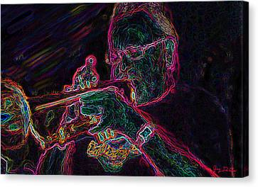 Jazz Trumpet Man Canvas Print