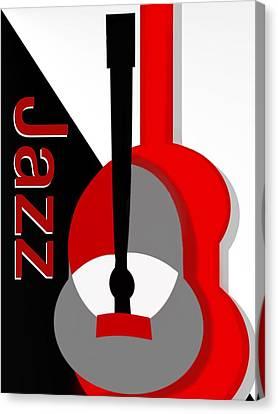 Jazz Vibe Canvas Print by Christine Fournier