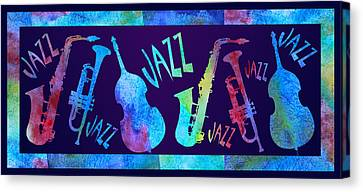 Jazzy Combo Canvas Print by Jenny Armitage