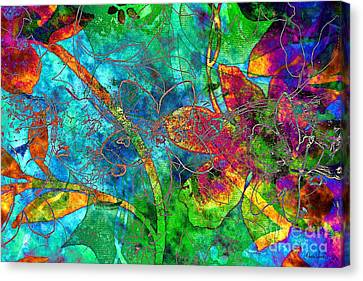 Canvas Print featuring the digital art Jazzy by Darla Wood