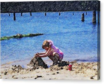 Jazzy's Sand Castle Canvas Print by Jamie Harcourt