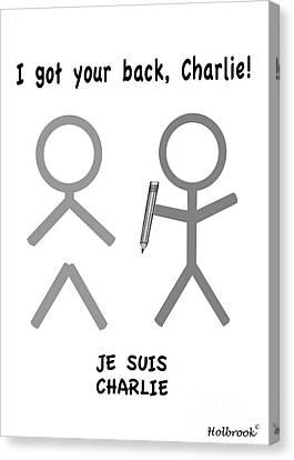 Je Suis Charlie Canvas Print by Glenn Holbrook