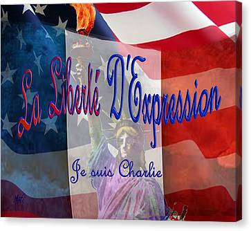 Je Suis Charlie Canvas Print by Michele Avanti