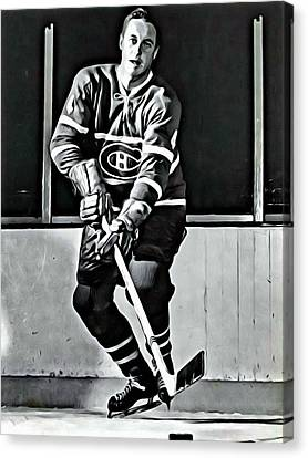 Jean Beliveau Canvas Print by Florian Rodarte