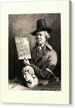Jean Jacques De Boissieu French, 1736 - 1810. Self-portrait Canvas Print by Litz Collection