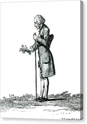 Democracy Canvas Print - Jean-jacques Rousseau by Collection Abecasis