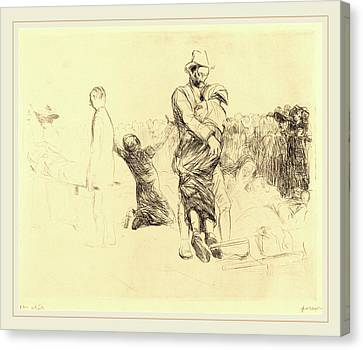 Jean-louis Forain, Lourdes, Transport Of The Paralyzed Canvas Print by Litz Collection