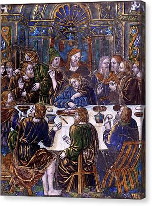 Jean Penicaud I, Plaque With The Last Supper Canvas Print by Quint Lox