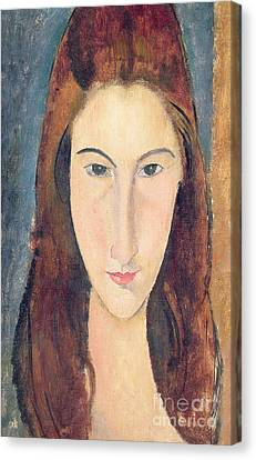 Jeanne Hebuterne Canvas Print by Amedeo Modigliani