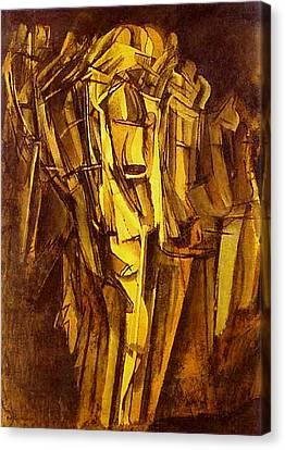 Jeanne Homme Triste Dans Un Train  Canvas Print by Marcel Duchamp