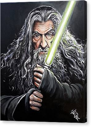 Jedi Master Gandalf Canvas Print
