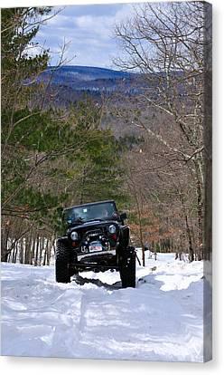 Jeep 9 Canvas Print by J Scott Davidson