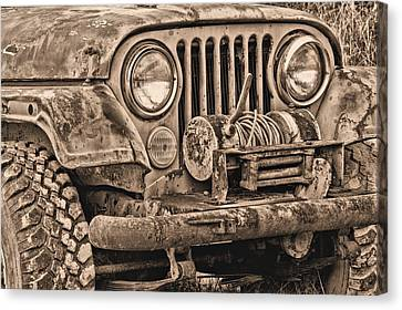 Jeep Cj Function Over Form Canvas Print by JC Findley