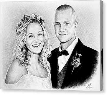 Jeff And Anna Canvas Print by Andrew Read