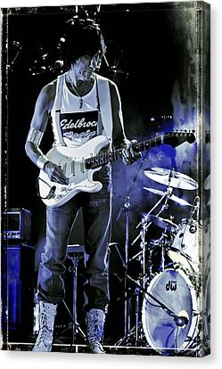 Jeff Beck On Guitar 8 Canvas Print by Jennifer Rondinelli Reilly - Fine Art Photography