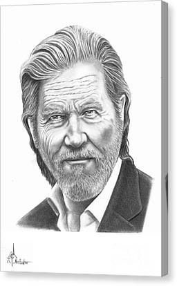 Jeff Bridges Canvas Print by Murphy Elliott