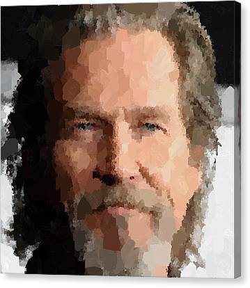 Jeff Bridges Portrait Canvas Print by Samuel Majcen