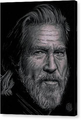 Jeff Bridges Canvas Print - Jeff Bridges by Ryan Jacobson