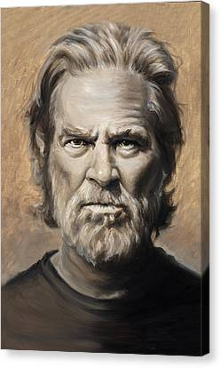 Jeff Bridges The Big Lebowski Canvas Print by Travis Knight