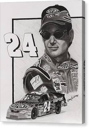 Jeff Gordon Canvas Print by Billy Burdette
