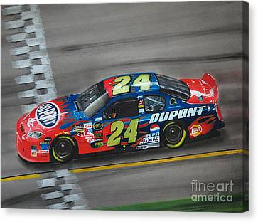 Jeff Gordon Dupont Chevrolet Canvas Print by Paul Kuras