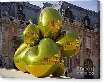 Jeff Koons At Versailles Canvas Print by Ros Drinkwater