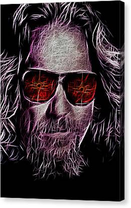 Jeff Lebowski - The Dude Canvas Print by Bill Cannon