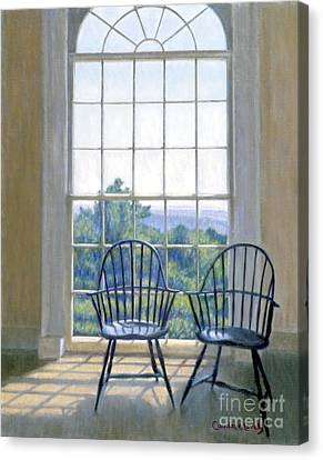 Jefferson And A Friend At Monticello Canvas Print by Candace Lovely