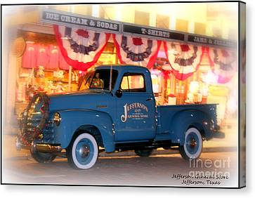 Jefferson General Store 51 Chevy Pickup Canvas Print by Kathy  White