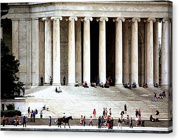 Jefferson Memorial--a Day In The Life Canvas Print