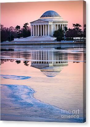 Jefferson Memorial In Winter Canvas Print