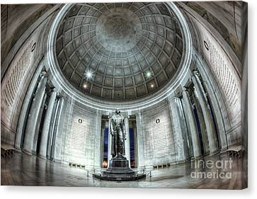 Jefferson Memorial Interior I Canvas Print by Clarence Holmes