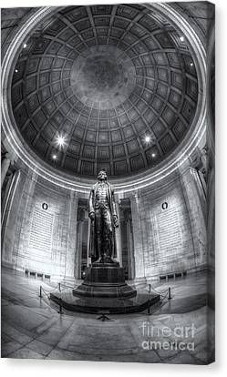 Jefferson Memorial Interior Iv Canvas Print by Clarence Holmes