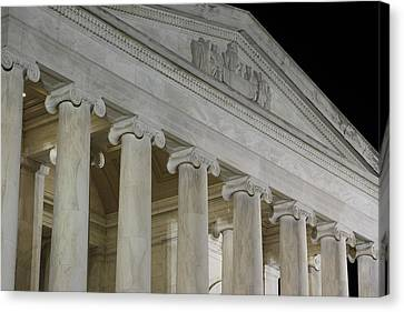 Jefferson Memorial - Washington Dc - 01131 Canvas Print by DC Photographer