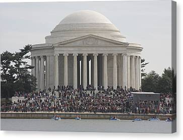 Jefferson Memorial - Washington Dc - 01134 Canvas Print by DC Photographer