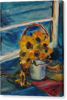 Jefferson Window Canvas Print by Susie Jernigan