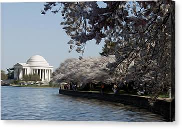 Canvas Print featuring the digital art Jeffersonian Blossoms by Kelvin Booker
