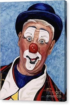 Watercolor Clown #11 Jeffrey Potts  Canvas Print by Patty Vicknair