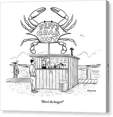 Jeff's Crab Hut Canvas Print by Alex Gregory