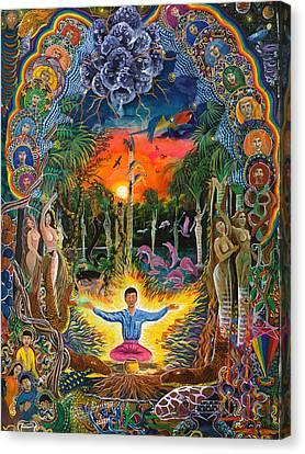 Ayahuasca Visions Canvas Print - Jehua Supai by Pablo Amaringo