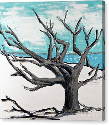 Jekyll - Drifting Away Canvas Print by Becca Lynn Weeks