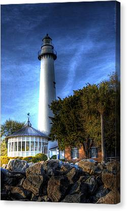 Jekyll Island Lighthouse Canvas Print by Donald Williams