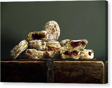 Jelly Donuts Canvas Print by Larry Preston