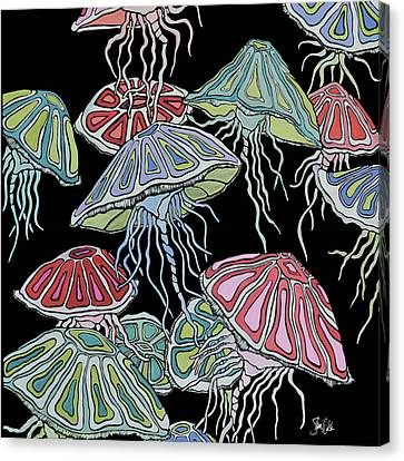 Jelly Fish II Canvas Print by Shanni Welsh
