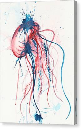 Jellyfish Canvas Print - Jelly by Tess Kamban