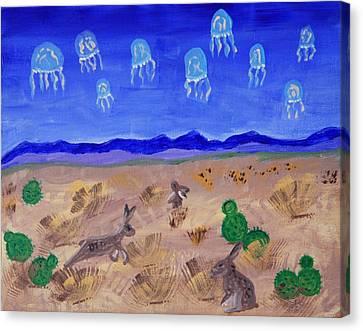 Jellyfish Migration Across Arizona Canvas Print