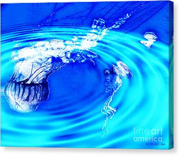 Jellyfish Pool Canvas Print by Methune Hively