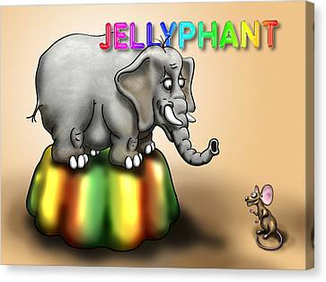 Jellyphant Canvas Print by Rock Weasel Designs