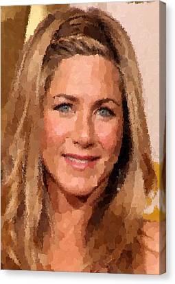 Jennifer Aniston Portrait Canvas Print
