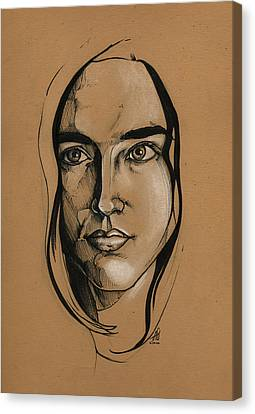 Jennifer Connelly Canvas Print by John Ashton Golden